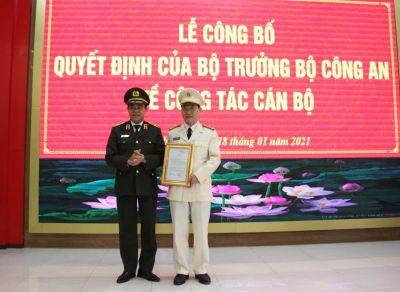 Công an tỉnh Nghệ An có Phó giám đốc mới