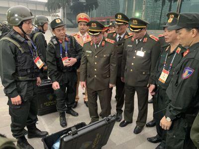 Một số hình ảnh kiểm tra công tác đảm bảo an ninh, trật tự Đại hội XIII của Đảng