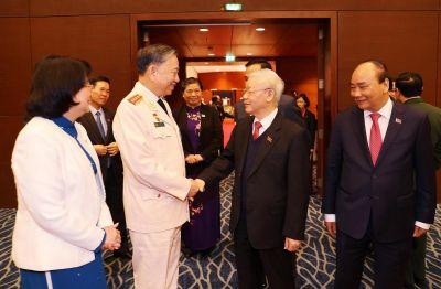 Một số hình ảnh Tổng Bí thư, Chủ tịch nước dự phiên họp trù bị Đại hội Đảng XIII