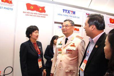 Thường trực Tiểu ban ANTT kiểm tra Trung tâm Báo chí Đại hội Đảng XIII