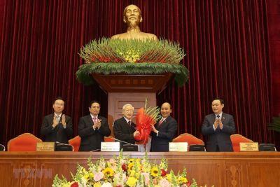 Ban Chấp hành Trung ương Đảng khoá XIII đã bầu 18 đồng chí vào Bộ Chính trị, đồng chí Nguyễn Phú Trọng được tín nhiệm bầu làm Tổng Bí thư
