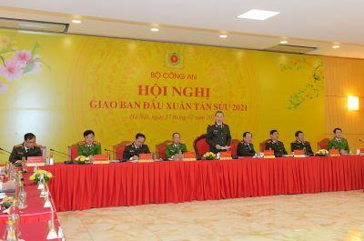 Bộ Công an giao ban trực tuyến đầu Xuân Tân Sửu 2021
