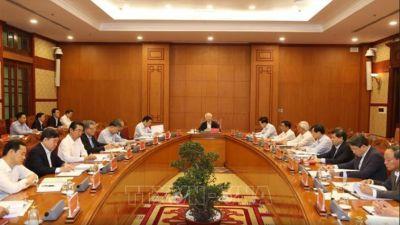 Tổng Bí thư, Chủ tịch nước Nguyễn Phú Trọng chủ trì họp Thường trực Ban chỉ đạoTrung ương