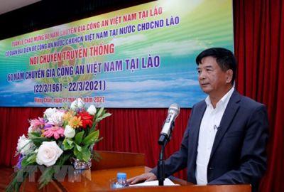 Chuyên gia công an Việt Nam không ngại hy sinh, giữ gìn ANTT cho nhân dân Lào