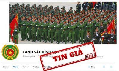 Phát hiện trang fanpage giả mạo kênh thông tin của Bộ Công an