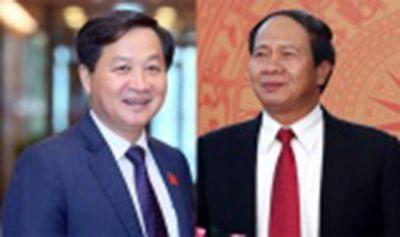 Chính phủ có hai Phó Thủ tướng mới là các ông Lê Minh Khái, Lê Văn Thành
