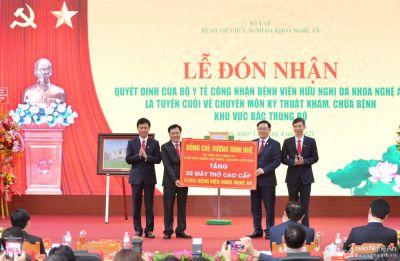 BV Hữu nghị đa khoa Nghệ An trở thành BV tuyến cuối khu vực Bắc Trung Bộ