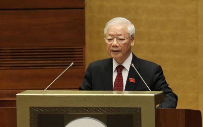 Tổng Bí thư Nguyễn Phú Trọng phát biểu tại tại phiên khai mạc Kỳ họp thứ nhất, Quốc hội khoá XV