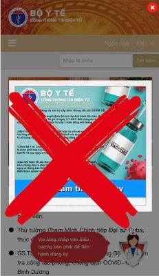 Cảnh báo trang web giả mạo cổng thông tin điện tử Bộ Y tế