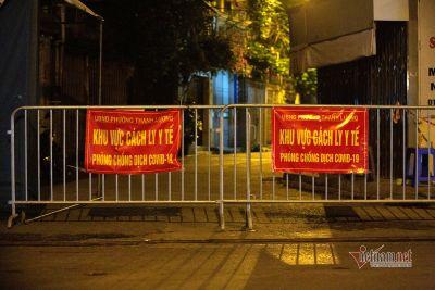 Phong tỏa ngõ ở Hà Nội có 21 ca nghi nhiễm Covid-19