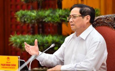 Từ phòng làm việc, Thủ tướng kiểm tra trực tuyến đột xuất các xã, phường về chống dịch COVID -19