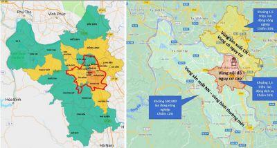 Phương án phân vùng 30 quận, huyện, thị xã của Hà Nội phòng, chống dịch Covid-19 từ ngày 6-9 đến 21-9