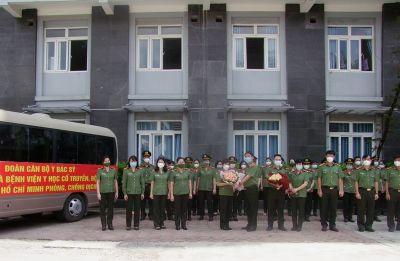 Tiếp tục chi viện y, bác sĩ Công an nhân dân tham gia phòng chống dịch Covid-19 tại các tỉnh phía Nam