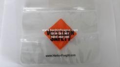 Túi PVC dẹp trong suốt dây kéo nhựa