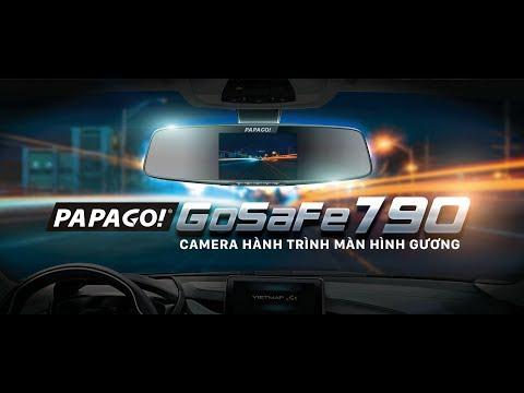 Camera hành trình Vietmap PAPAGO GoSafe 790 vừa dẫn đường vừa ghi hình 2 kênh Super HD 2K/1080P, Màn hình 4.5 inch
