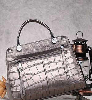 Black Contrast Stitch Duffle Bag