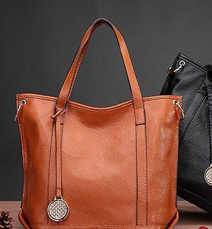 Black Push Lock Across Body Bag