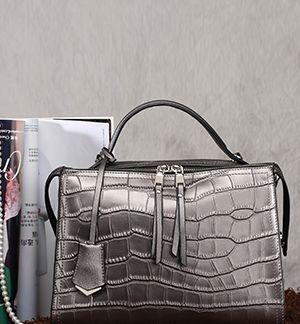 Black Zip Side Shopper Bag