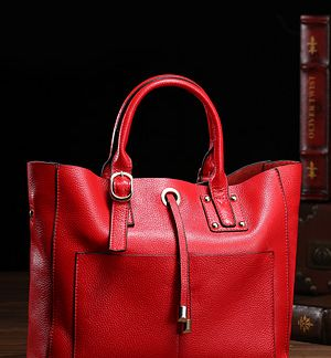 Blue Zip Front Duffle Bag