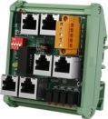 Distributed Motionnet 4 port Hub module with RJ-45 Jack