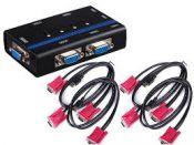 KVM Switch 4Port Auto USB+VGA VIKI MT-462KL