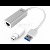 Cáp USB 3.0 -> cổng LAN (+ĐĐ Type - C) Unitek (Y - 3464A)