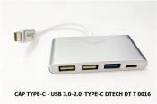 Cáp Type-C Usb 2.0 3.0 Dtech DT T0016