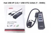 Hub USB 4port (3.0) + Usb OTG Unitek (Y-3046A)