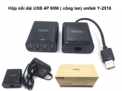 Hộp nối dài USB 4P 60m (cổng Lan) Unitek Y-2516