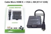 Cáp Micro HDMI K to Vga L KM (KY-H 123B)