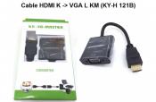 Cáp HDMI K to VGA L KM (KY-H 121B