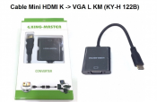 Cáp Mini HDMI K to Vga L KM (KY-H 122B)