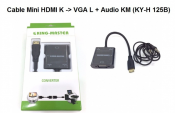 Cáp Mini HDMI K to Vga L + Audio KM (KY-H 125B)