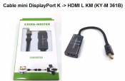 Cáp Mini DisplayPortK to HDMI L KM (KY-M 361B)