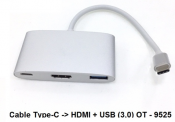 Cáp Type C to HDMI + USB (3.0) PT - 9525