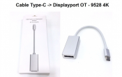 Cáp Type C to DisplayPort OT - 9528 4K