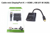 Cáp Mini DisplayPort K to HDMI L KM (KY-M 362B)