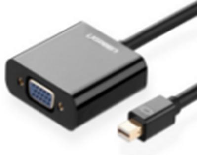 Cáp Mini displayport to VGA Ugreen 10459 hỗ trợ độ phân giải cao