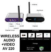 PAT 220 2.4GHz 4 Channel Wireless AV Audio Video
