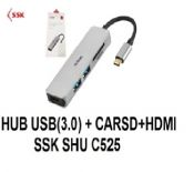 HUB USB 3.0 + CARD SD + HDMI SSK SHU C525