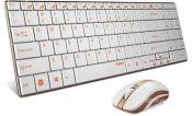 Bộ bàn phím và chuột  vi tính không dây Rapoo 9160 màu vàng