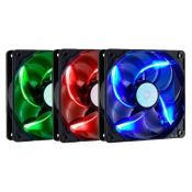 "FAN FOR CPU COOLER MASTER ""COLOR FAN 12CM STICKLE FLOW - LED SILENT FAN (BLUE - GREEN - RED)"""
