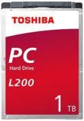 """Ổ cứng HDD Toshiba L200 2.5"""" 1TB SATA 3Gb/s 5400 RPM 8MB (HDWL110UZSVA)"""