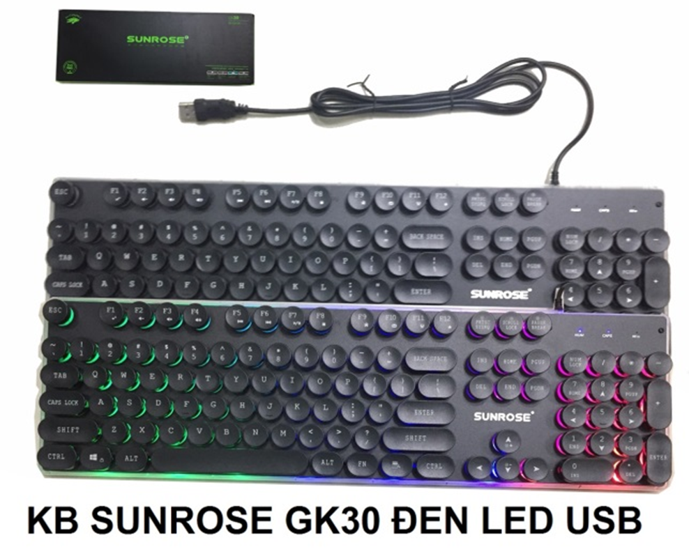 KB SUNROSE GK30 Đen Led USB