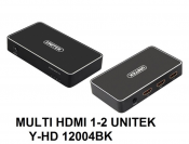 Multi HDMI 1-2 Unitek Y-HD 12004BK