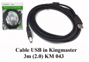 Cáp USB in Kingmaster 3m (2.0) KM043