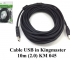 Cáp USB in Kingmaster 10m (2.0) KM045