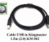 Cáp USB in Kingmaster 1.5m(2.0) KM042