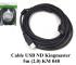 Cáp USB in nối dài Kingmaster 5m (2.0) KM048