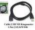 Cáp USB nối dài Kingmaster 1,5m (2.0) KM046